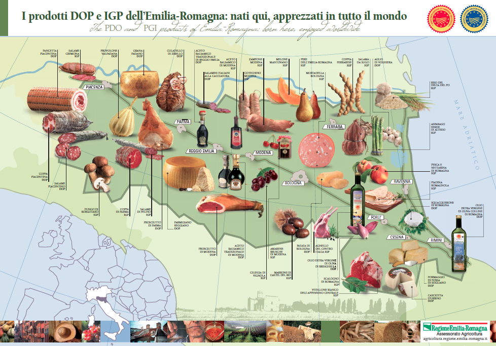 IGP & DOP Products Emilia Romagna