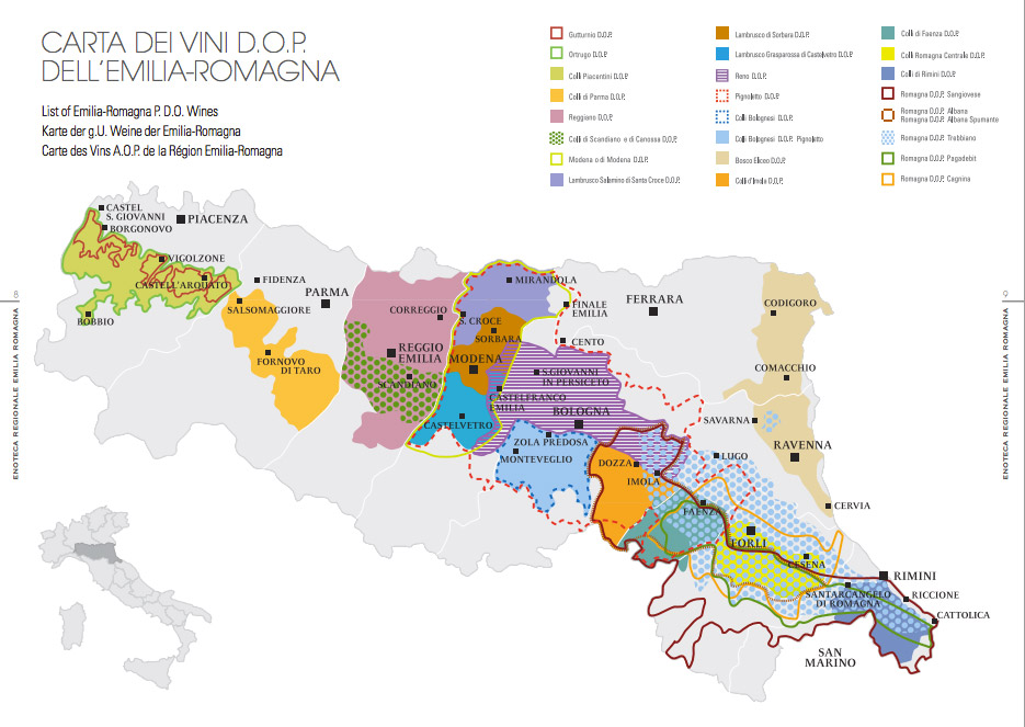 Wine Region Italy Map.Secret Wines Of Emilia Romagna